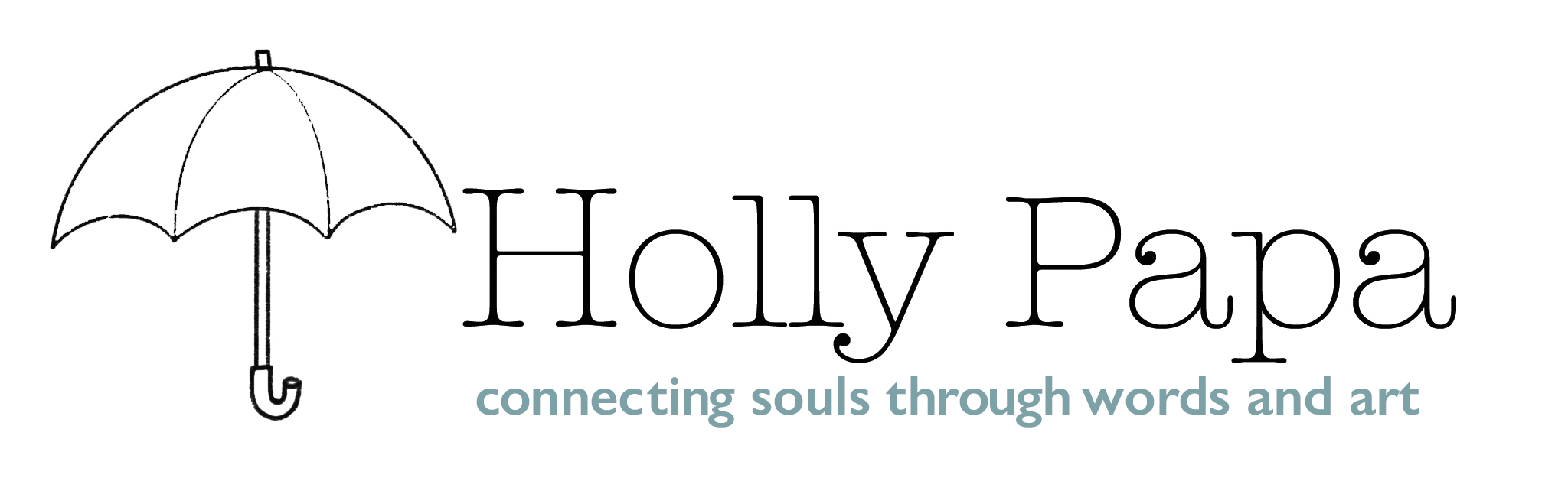 Holly Papa Logo: Connecting Souls Through Words & Art
